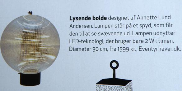 Lysende bolde i Bo Bedre - Crystal udendørslampe