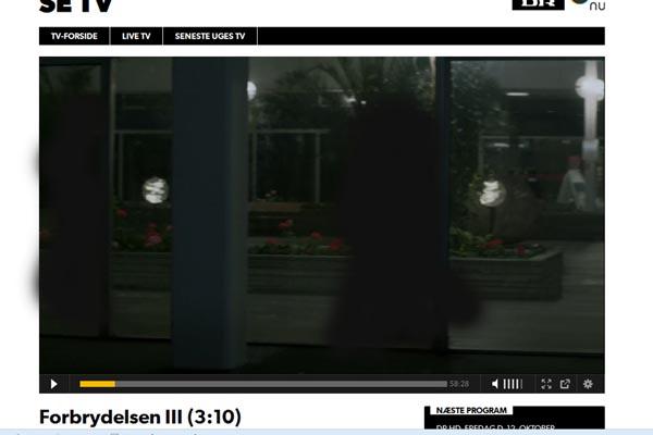 Estella sortmalet udendørslampe med i Forbrydelsen 3, på tilbud til k. 1999,- så længe lager haves