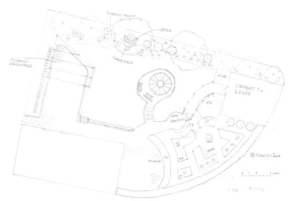Haveplan til kunde i Horsens