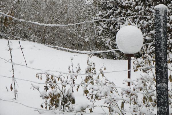 Det bliver ved med at sne og sne