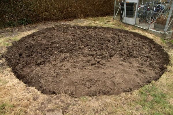 Der er klar til det egentlige gravearbejde