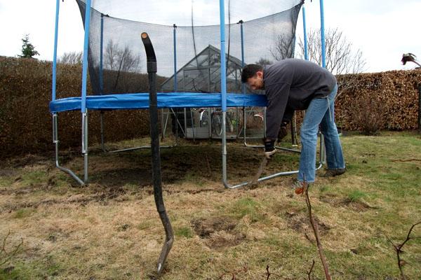 Torsten mærker trampolinen op