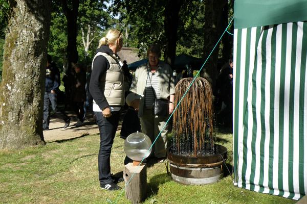 Hængepil - kobberspringvand