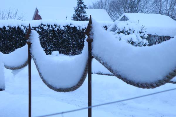 Sne og vindstille vejr giver flotte billeder