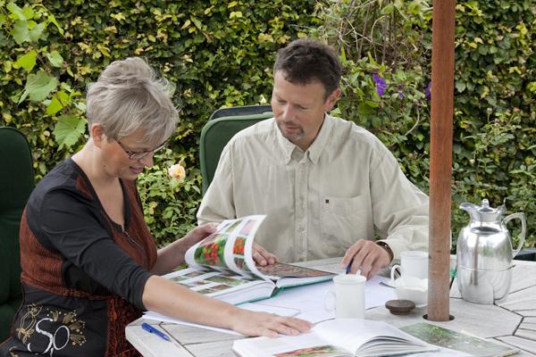 Haveplaner tegnet af Torsten og Annette Lund Andersen