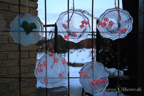 iskrystal med flag - fødselsdags velkomst - islygter